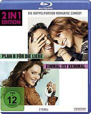 PLAN B FÜR DIE LIEBE (Jennifer Lopez) + EINMAL IST KEINMAL (2 Blu-ray Discs) NEU