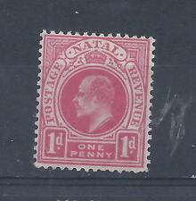 Natal South Africa stamp. Edward VII Crown CA watermark 1d MH (Y292)