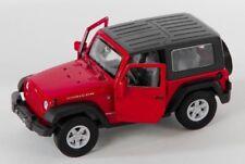Spedizione LAMPO JEEP WRANGLER RUBICON ROSSO/RED Welly Modello Auto 1:34-39 NUOVO OVP