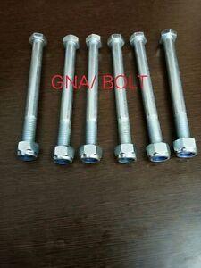 JCB BACKHOE - BOLT & NUT M12x80, PACK OF 4 PCS. ( PART # 1315/3518Z 1370/0403Z )