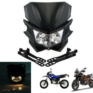 Black Street Dirt Bike Motorcycle Headlight Hi / Lo Kit 12V H4 Universal Custom
