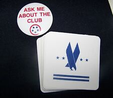 American Airlines Admirals Club Lapel Pin Button and Drink Coasters
