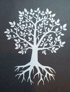 Tree Of Life Vinyl Decal Sticker In Black Or White
