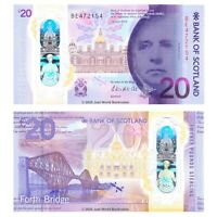 Bank of Scotland 20 Pounds £20 2019 (2020) Polymer P-New Banknotes UNC