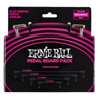 Ernie Ball Flat Ribbon Patch Cables Pedalboard - Multi Pack Inc 10 Cables