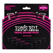 Ernie Ball Flat Ribbon Patch Cables Pedalboard Multi-pack Black E6224