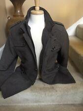 Siqilong Men's Brown Tweed Vintage Style Winter Coat Jacket Size XXL 185/100A