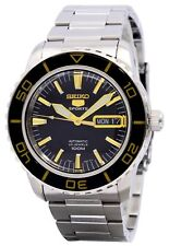 Brand New Seiko 5 Automatic Divers Watch Fifty Fathoms SNZH57K1 Gold and Black