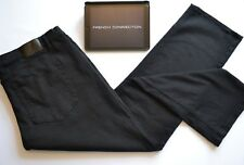 French Connection Mens black jeans regular fit straight leg Sz W46 L33