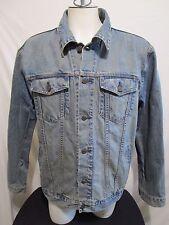 Gap 1969 Distressed Denim Trucker Blue Jean Jacket Mens Size XL