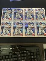 Lot Of (8) 2020 bowman chrome Mojo triston casas Refractors Boston Red-Sox