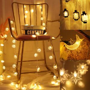 Eid Mubarak Ramadan LED Fairy String Light Moon Islam Muslim Hanging Party Decor