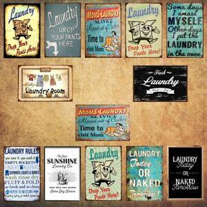 Lanudry Room Poster Retro Metal Tin Signs Vintage Hanging Art Wall Decor
