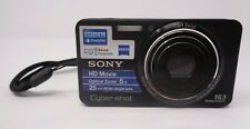 Sony Cybershot DSC-W570 16.1MP Wide Angle Lens Camera Black With Strap