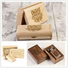 Wooden USB 3.0 Flash Drive Engraved Custom Photography Wedding Pendrive 8GB 16GB