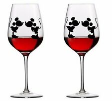 9 x Mickey and Minnie Vinyl Decal Wine Glass stickers