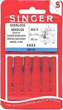 Singer 2022 Serger Overlock Sewing Machine Needles Size 90/14~5 Pack~Free Ship