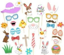 29pcs Easter Party Masks Photo Booth Props Mustache Wedding Birthday On Stick US