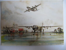 C130 Hercules MK3 and MK1- Post Office Postcard (Mail Delivery Falklands War)