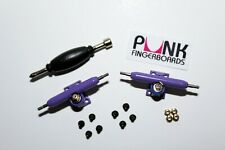 Pro Shaped Fingerboard Trucks -PURPLE- 32mm, Single Axle+Lock Nuts+FREE GRIP!