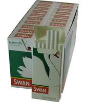 New Swan Extra Slim Menthol Filter Tips - Full Box of 20 Packs