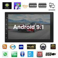 Double Din 7 inch Android 9.1 Car Stereo Gps Navigation Radio Player Wifi Usa
