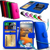 For Posh Titan Max HD E550 - Clip On PU Leather Wallet Case & Earphone