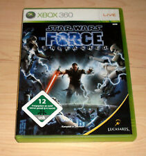 Microsoft XBOX 360 GIOCO GAME-Star Wars-The Force Unleashed tedesco completo