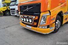 To Fit Volvo FM4 13+ Truck Low Light Bar Spoiler Under Bumper Lobar + 11 LED