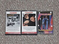 Lot of 3 Fishbone Audio Cassette Tapes: Self-Titled, In Your Face & Tapeheads