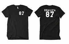 Khalifa 87 t-shirt Wiz Show and Prove Rolling Papers Weed hiphop Fun culto Weed
