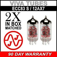 New In Box Gain Matched Pair JJ Electronics Tesla 12AX7 ECC83-S Vacuum Tubes