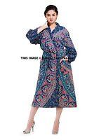 Indian Cotton Elephant Mandala Kimono Women Bathrobe Robe Casual Dressing Gown