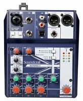 Soundcraft Notepad-5 Channel Podcast Mixer Podcasting Interface w/USB For Mac/PC