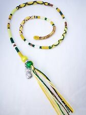 hair wrap, braid, pinapple, sunshine, yellow Tibetan silver, 31/35cm,clip,plait