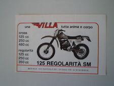 advertising Pubblicità 1982 MOTO VILLA 125 REGOLARITA' SM