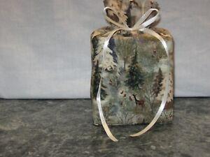 Christmas Trees Deer Glitter Cotton Fabric Handmade square Tissue Box Cover
