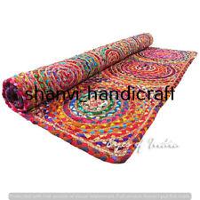Hand Woven Jute & Cotton Rug Bohemian Area Rug Handmade Natural Rug 6x9 Feet Mat
