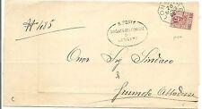 P5884   Vicenza, LONGARE, annullo ottagonale 1906