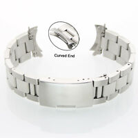 Fashion Curved End Stainless Steel Watch Band Curved End Bracelet Strap 18~24mm