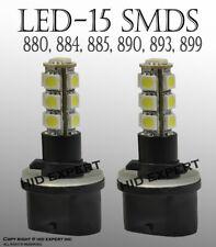 x2 LED 880 884 885 892 893 899 13 LED SMDs Fog Light Bulb 6000K Super White J130