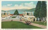 LAKE GEORGE NY – Fort William Henry Hotel The Pergola and Lake – Adirondacks