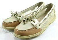 Sperry Top Sider Angelfish $90 Women's Boat Shoes Size 10 Beige Brown