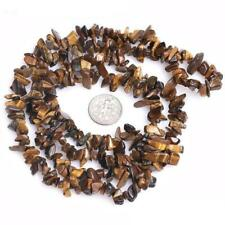 "4-7mm tiger eyes loose beads strand gemstones jewelry freeform#16"""