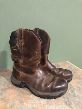 CABELA'S MEN'S 825533 ROUGHNECK WELLINGTON BROWN BOOTS SIZE 9.5EE