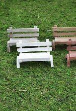 Bench set 2 Miniature Fairy Faerie Gnome Hobbit Garden Mr 51021sl Terrarium