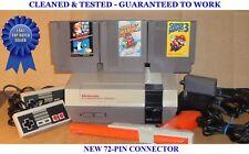 Nes Console Bundle + Super Mario Bros 1 2 3 & Zapper - Best Pins - Guaranteed