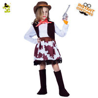 Cool Cowboy Costume for Girls Kid Dress Up Western Cowboy Outfits for Role Play