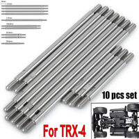 10Pcs Chassis Stainless Steel Link Rod Linkage Set For TRX-4 1/10 RC Crawler Car