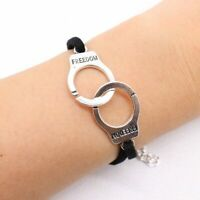 Multilayer Handcuffs Simple Leather Charm Bracelet